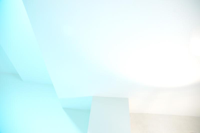 interior blue white