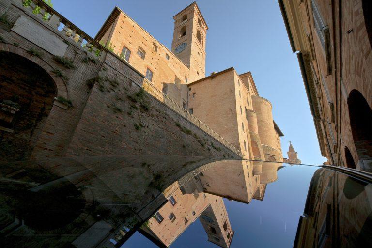 urbino citadel reflection architecture travel photo tom ang